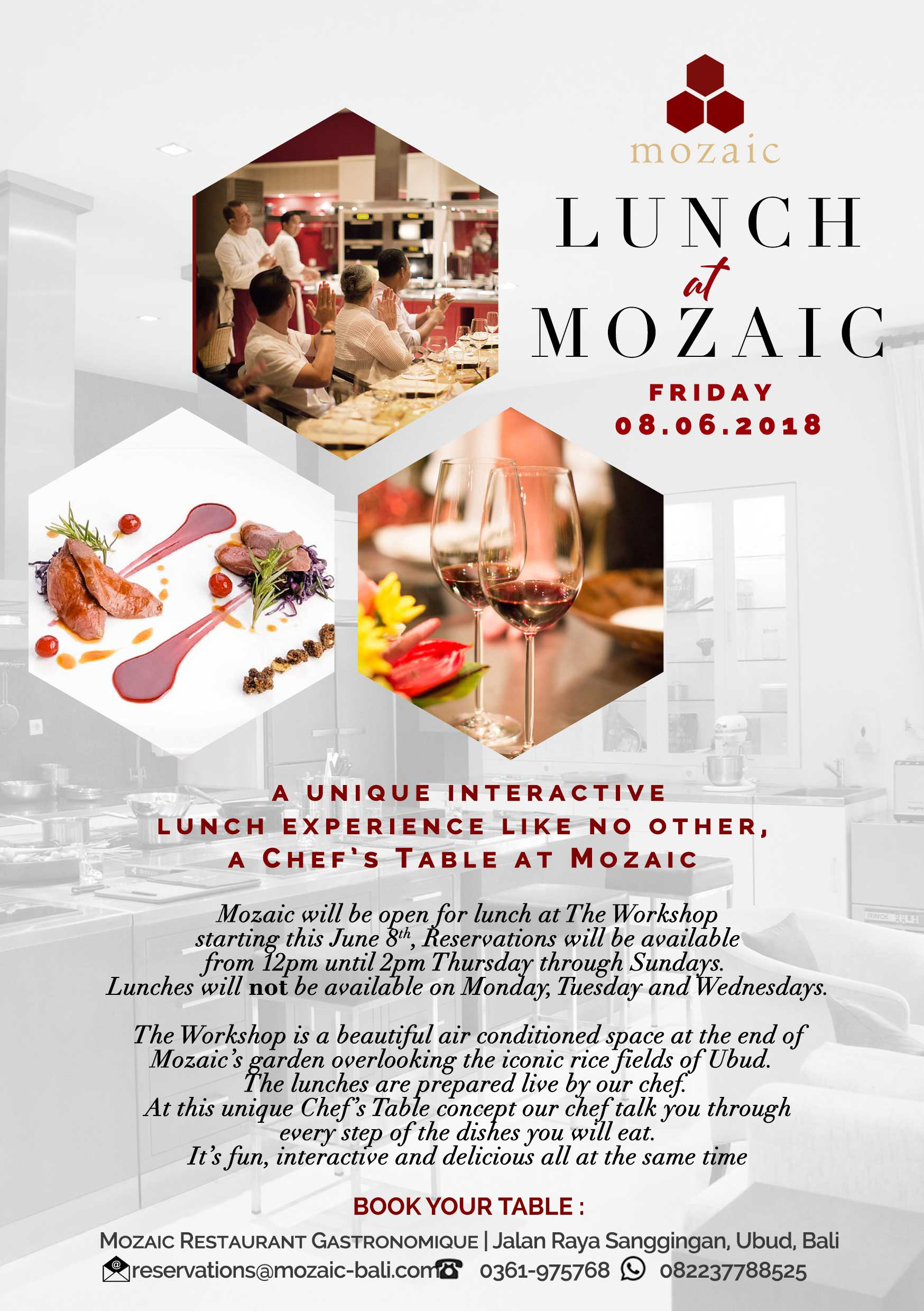 mozaic open for lunch mozaic