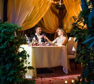 Couple enjoying Ubud fine dining